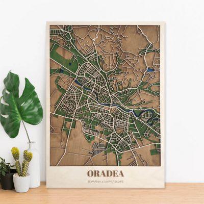 Harta-Oradea-Lemn