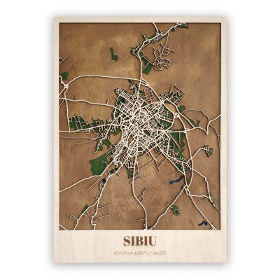 Harta Sibiu Lemn