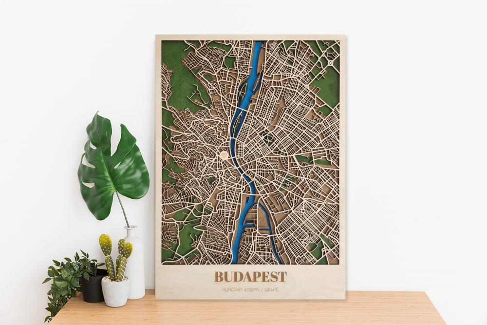 Tablou hartă personalizată din lemn