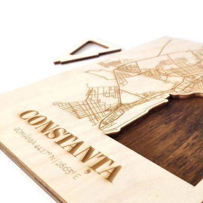 Hartă suvenir din lemn Constanța